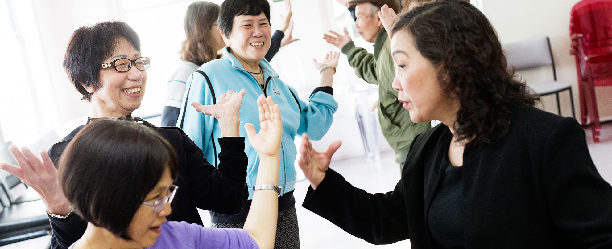 Ballrroom dancing class run by the Australian Vietnamese Women's Gambling Counselling Program