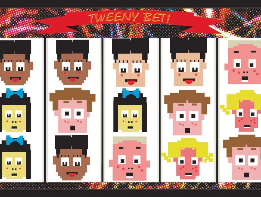 Illustration of parody game 'Tweeny bet' on smart phone